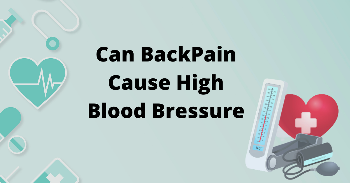 Can back pain cause high blood pressure